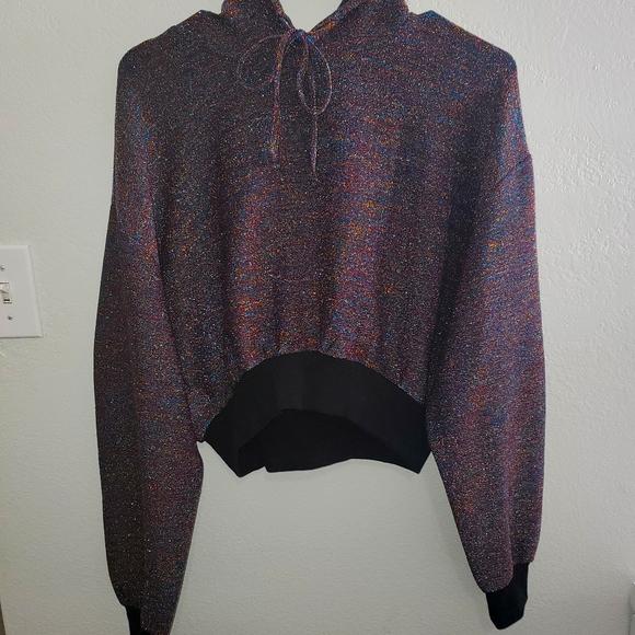 Women's crop hoodie sparkly